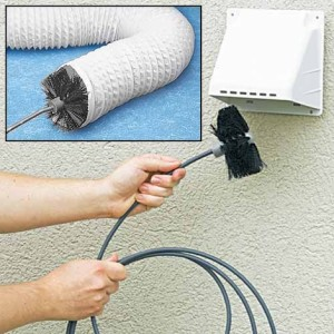 An expert cleaning dryer vents